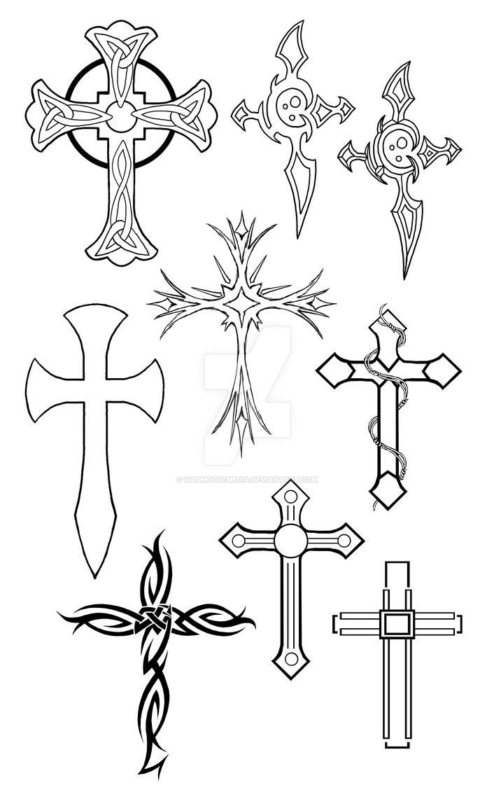Tiny Cross Tattoo Designs