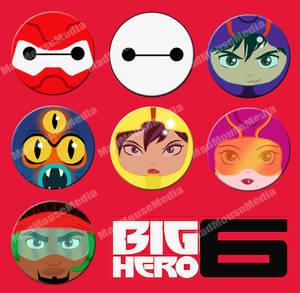 Big Hero 6 Buttons
