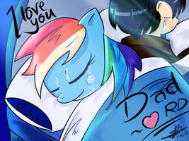 I wish I could sleep with you... Dashie... by johnkapid