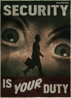 Fallout New Vegas - Security Poster by TheSpartanOfAuburn