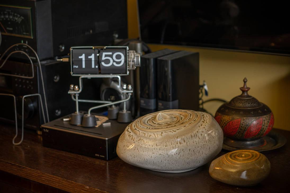 Set Of Ceramic Art Urns for Ashes - Resonance