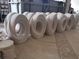 The Passage urns for ashes ready to be glazed