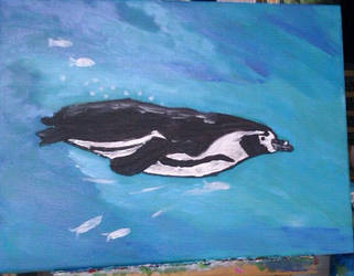 Swimming Pinguin by butterfly87