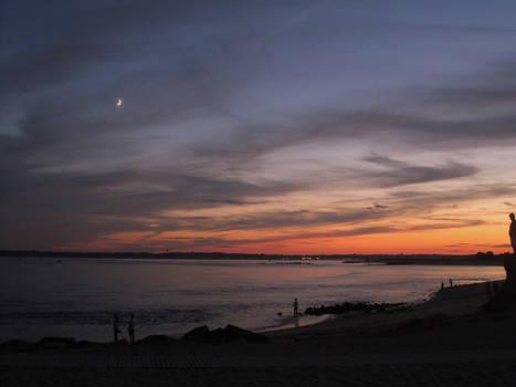 Twilight Dusk Beach