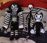 Laughing Jack, The Puppet, and Bendy plushies by NightBlueDreams4102