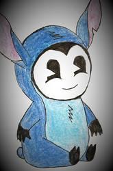 BATIM: Smol Bendy wearing a stitch pajamas