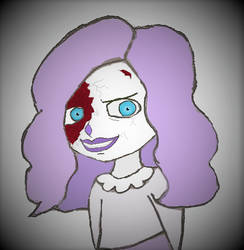 Creepypasta OC: Lilac the clown doll's evil smile by NightBlueDreams4102