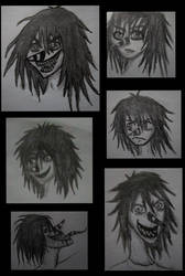 Old Laughing Jack Drawing Styles by NightBlueDreams4102