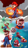 Sketches Super Mario by LC-Holy