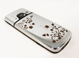 Mobile phone with engraving by Katlinegrey