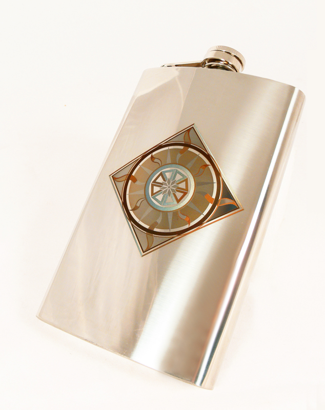 Feanor Emblem Flask by Katlinegrey