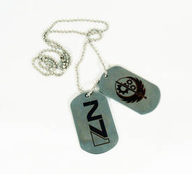 Dog tags by Katlinegrey