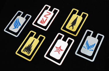 Mass Effect bookmarks by Katlinegrey