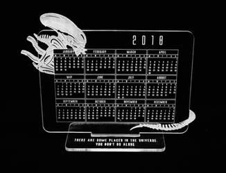 Alien calendar 2018 by Katlinegrey
