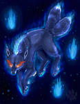 Blue Flame two tailed Fox