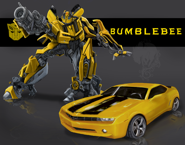 Bumblebee with Camaro by Ash-Dragon-wolf on DeviantArt