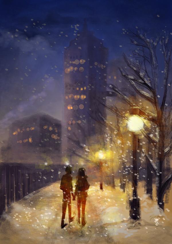 Winter Night by Rattenfanger
