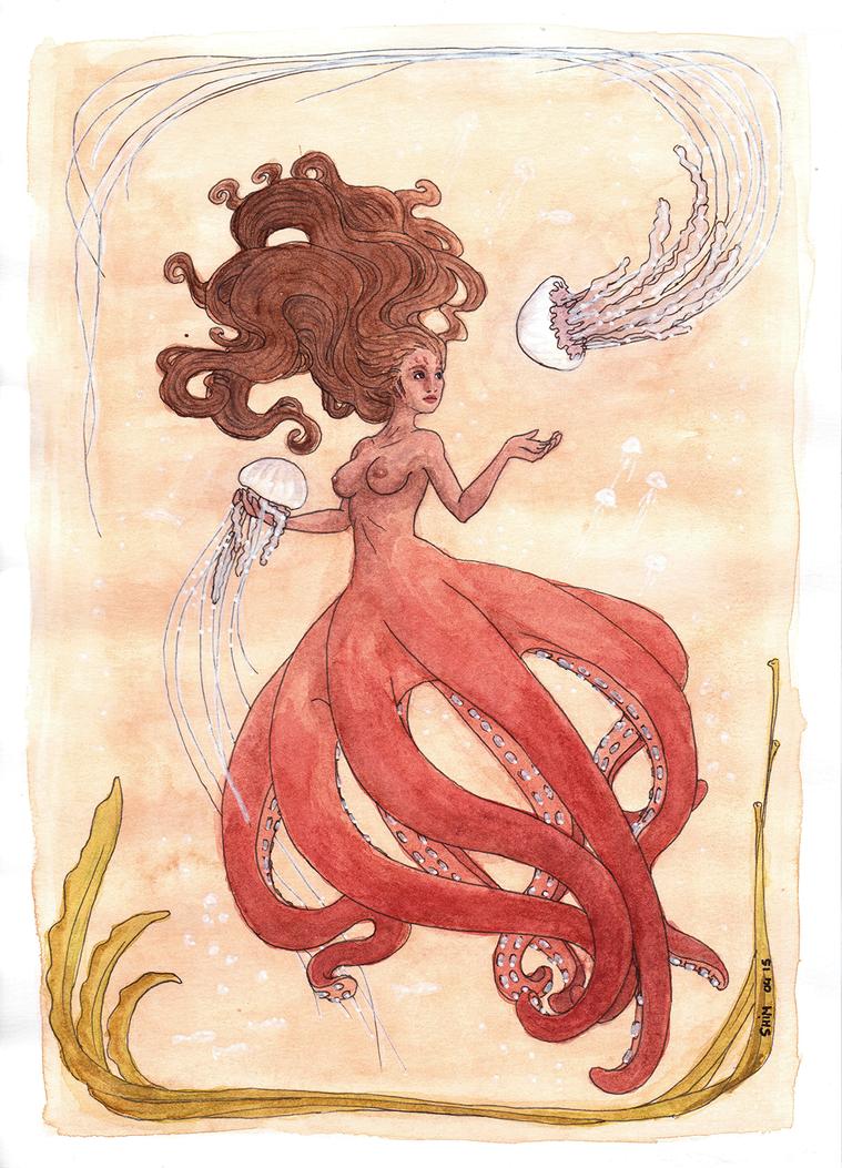 Octopuss Mermaid by Pix-n-inK