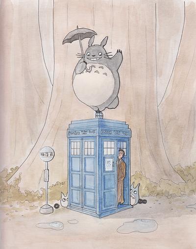 When Ten meets Totoro by Pix-n-inK