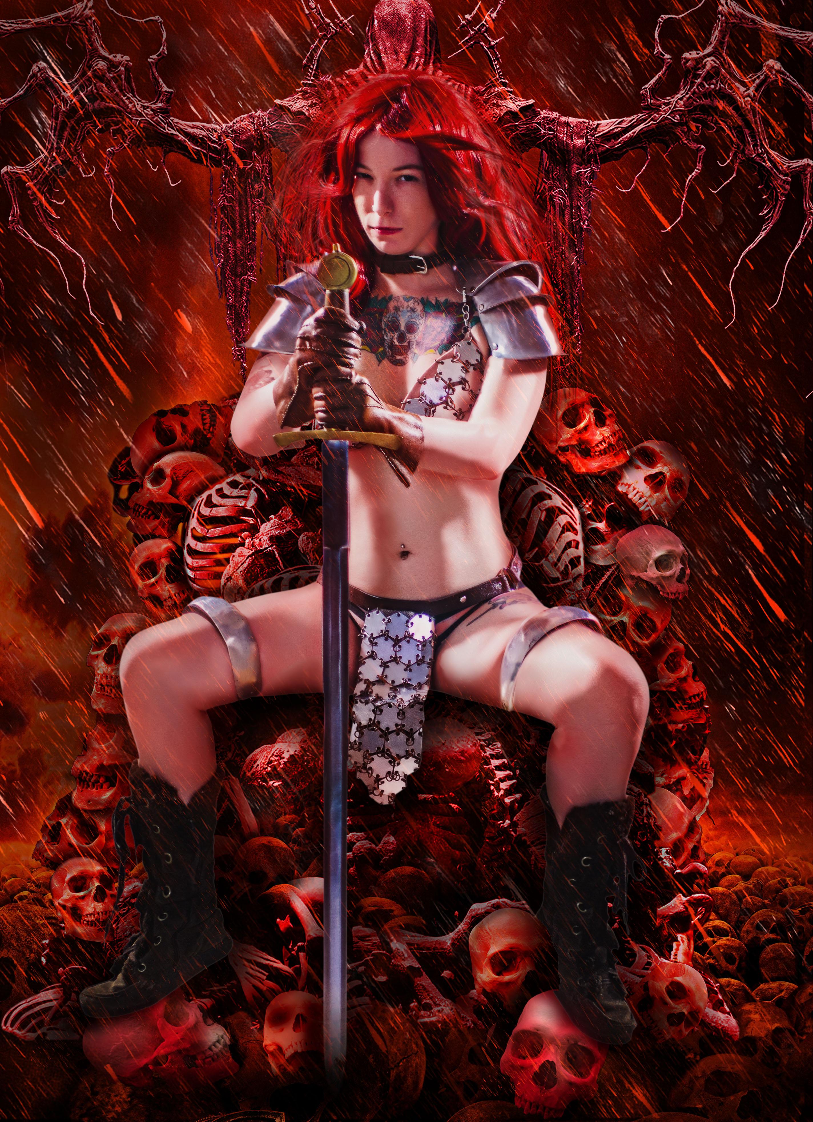 Blood Red Sonja by Mistress-Zelda