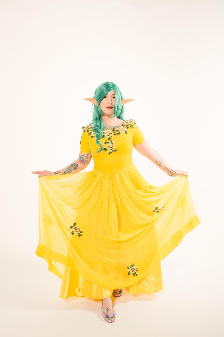 Yellow Elf 3 by Mistress-Zelda