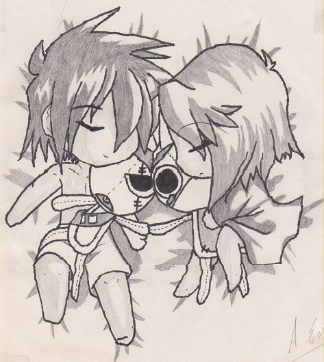 Chibi Couple by DarkAngel0796 on DeviantArt