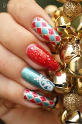 chsirtmas nails by yuki365