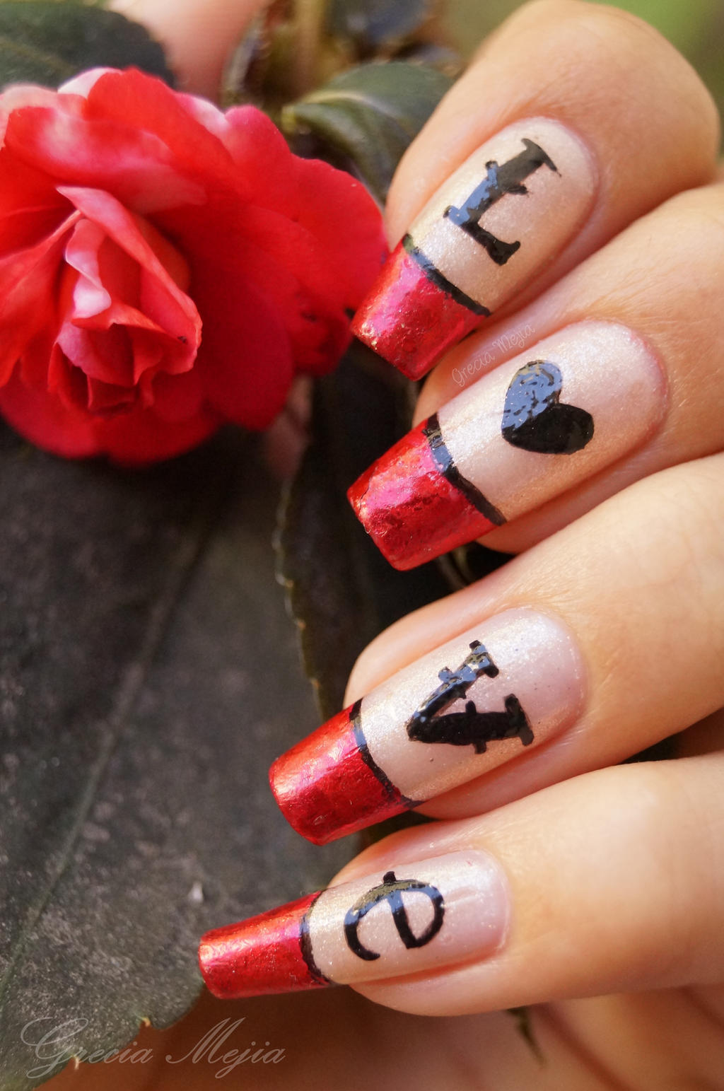 LOVE nails by yuki365 on DeviantArt