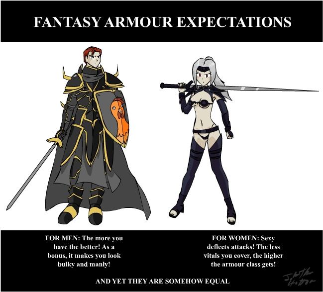 Commit error. Fantasy female armor meme authoritative point