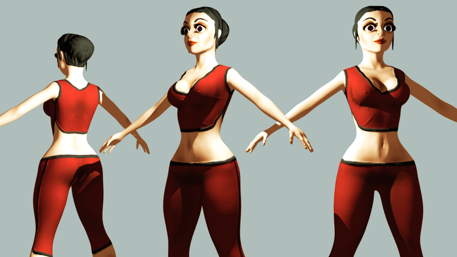 Blender Character Modeling 5 Of 10 : Blender game character render by mastercron on deviantart