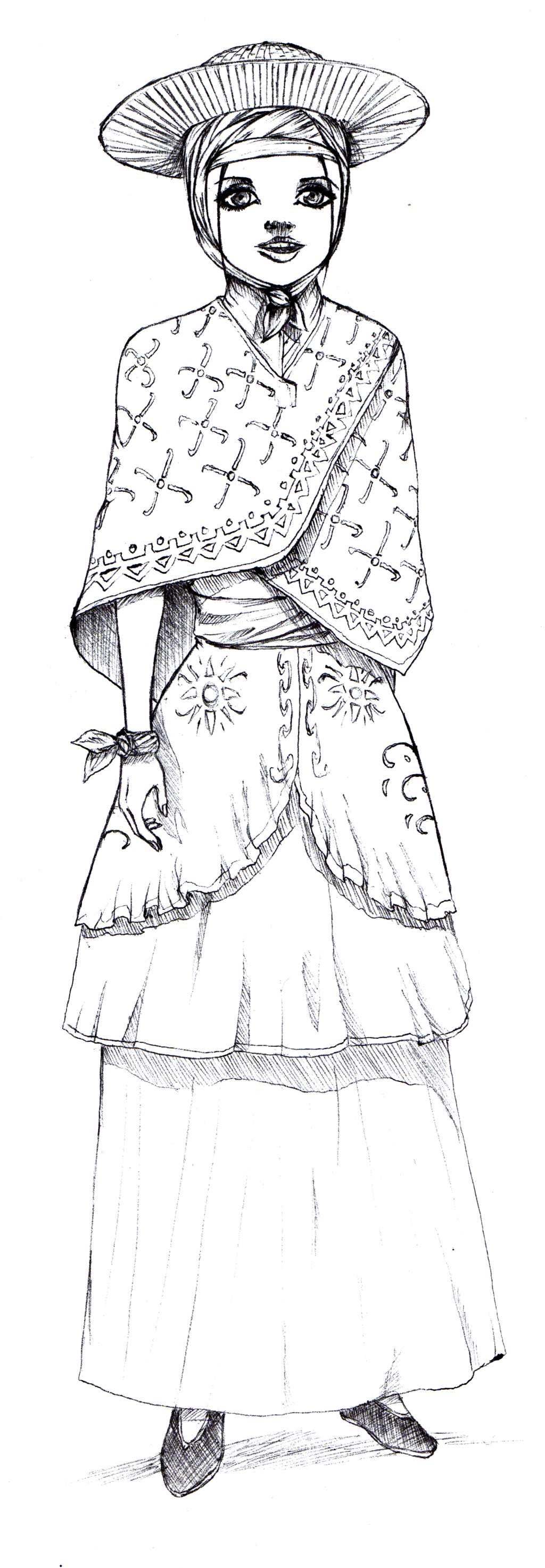 Argentina s traditional clothing chinita by mastercron traditional art
