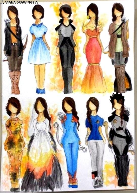 Katniss Clothing by VianaDrawings