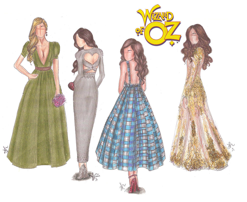 The Wizard of Oz Fashion by VianaDrawings