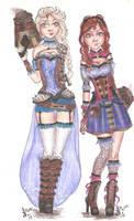 Disney Princess Steampunk | Elsa and Anna