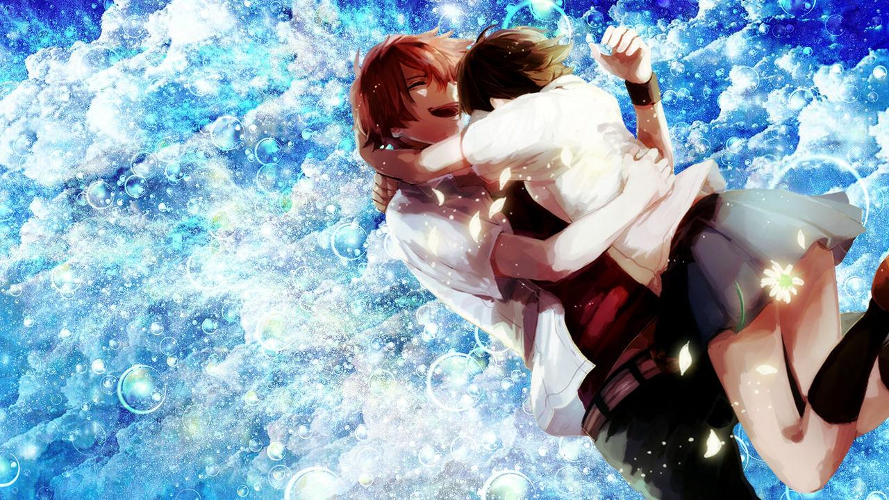 desktop wallpaper   anime couple by icayenne dcys7n7