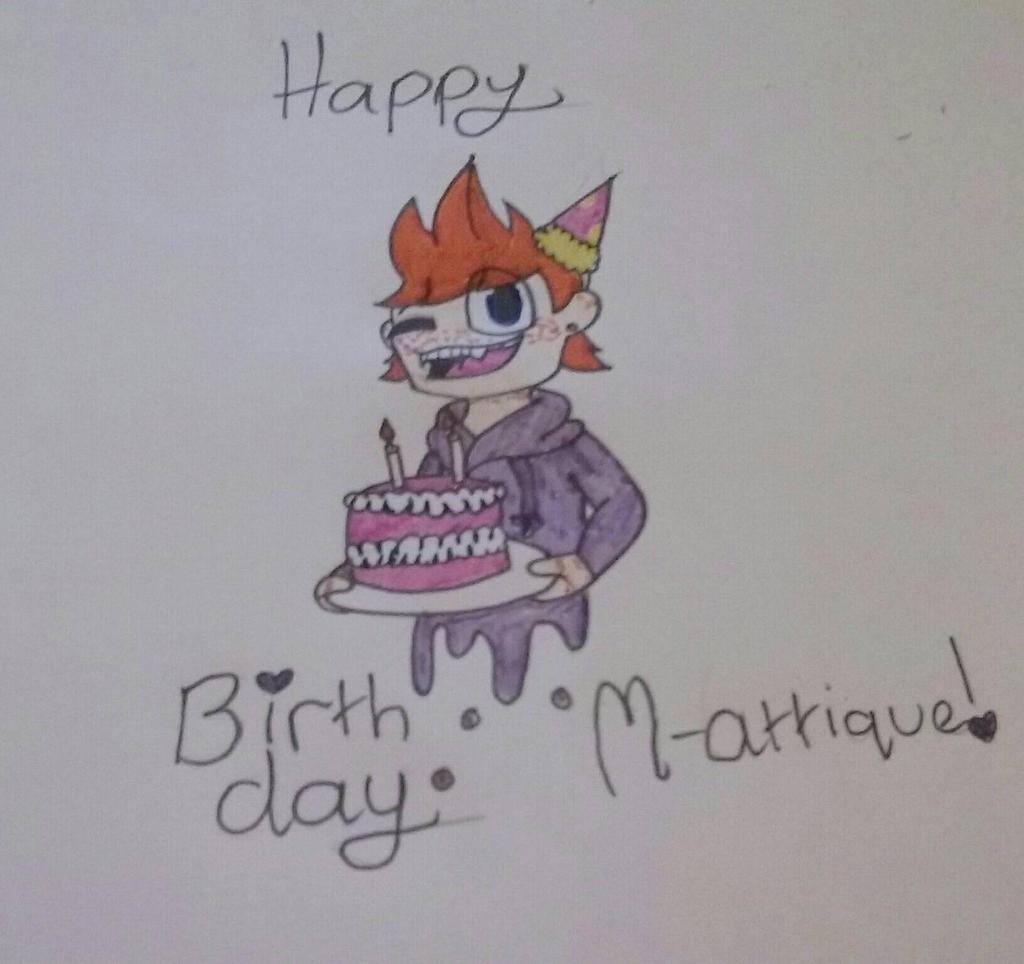 Happy LATE Birthday M-attique by Wander1456