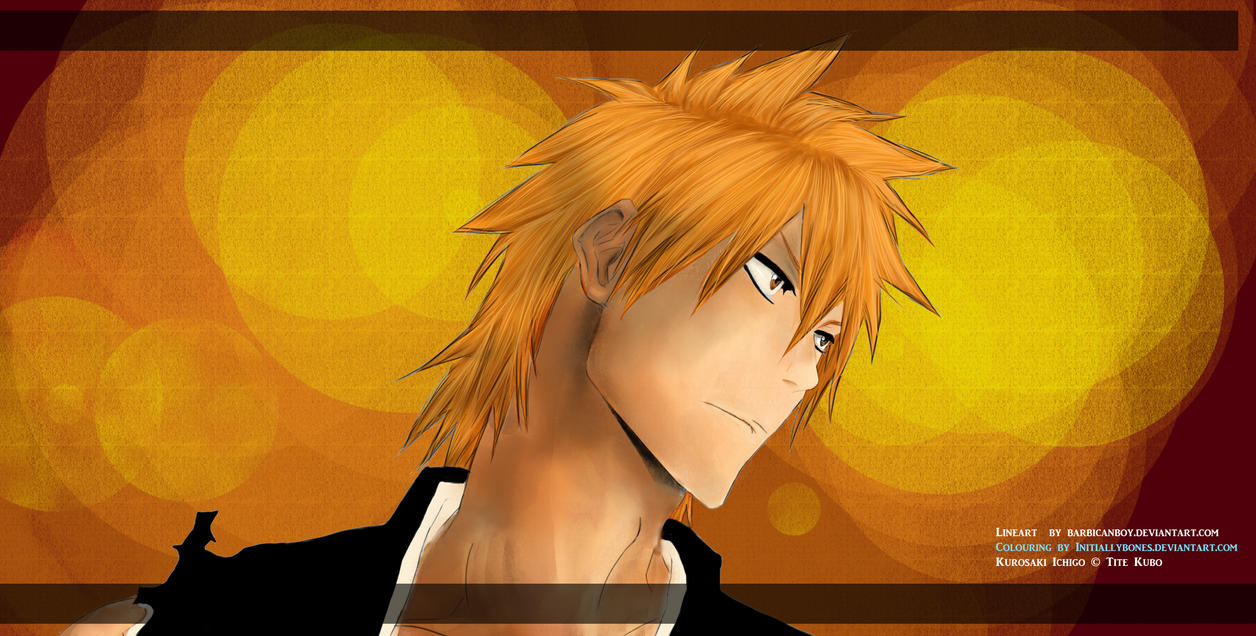 Kurosaki Ichigo:.. Coloured by InitiallyBones
