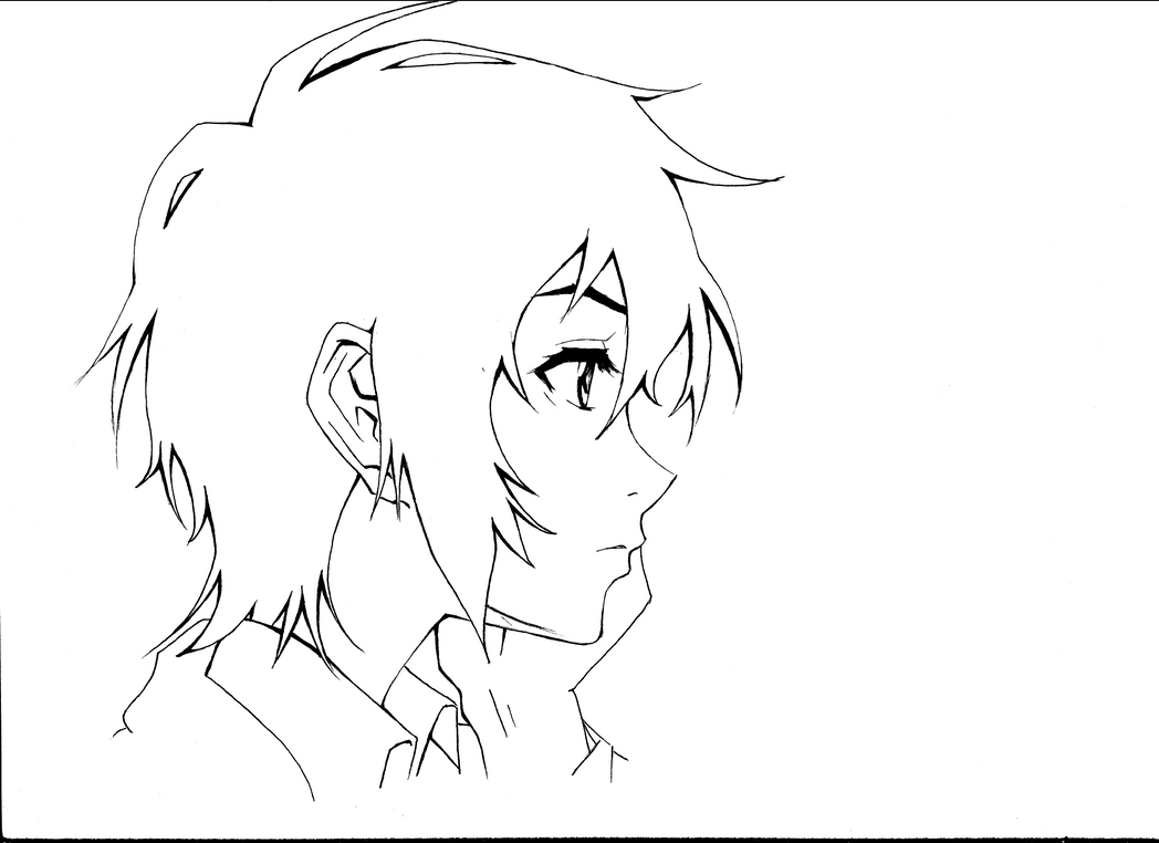 Miharu Lineart::.. by InitiallyBones