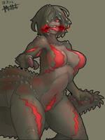 Deviljho humanization (mad) by MuHut
