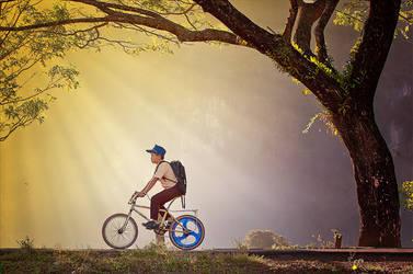 Bike To School by momoclax
