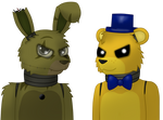 Just Gold - Springtrap and Golden Freddy