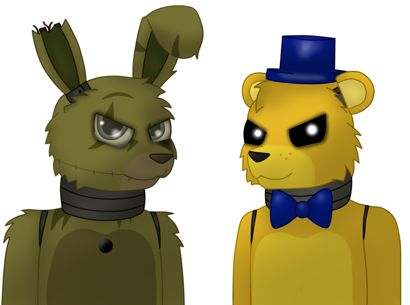 Just gold springtrap and golden freddy by xk1rarax on deviantart