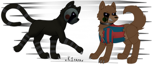 [FNAF] Feral Phantom Puppet and BB by XK1RARAX
