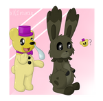 Fredplush and Plushtrap - FNAF Pokemon crossover by XK1RARAX
