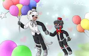 Love is in the air~ Molten Freddy x Lefty by XK1RARAX