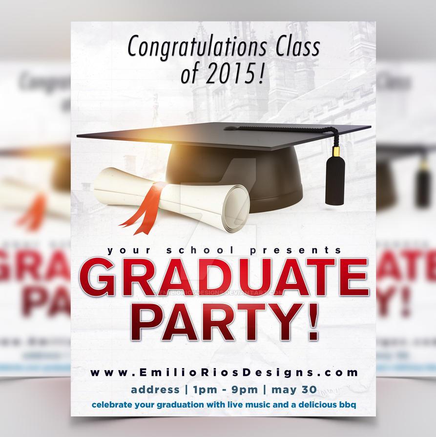 graduation party flyer