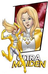 Ultramaiden's Gold Costume by JoethebigItalianguy