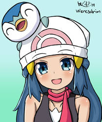 Dawn and Piplup - Pokemon by Weresdrim