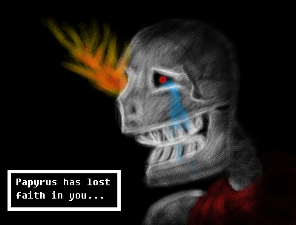 Papyrus: Lost Faith (Undertale) by SachiKanashimi