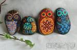 Deco Rocks, Owls, March 2021